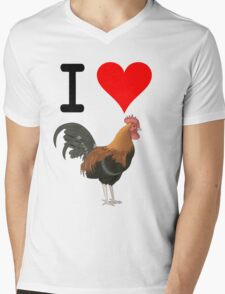 I Love Cock Mens V-Neck T-Shirt