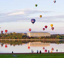 Mass Hot Air Balloon Launch - Enlighten Canberra by DespinaT