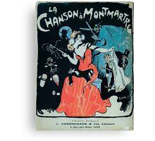 Jules Alexandre Grün La Chanson à Montmartre 1902 Canvas Print
