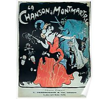 Jules Alexandre Grün La Chanson à Montmartre 1902 Poster