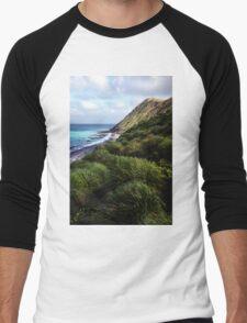 Coastal View, Maquarie Island Men's Baseball ¾ T-Shirt