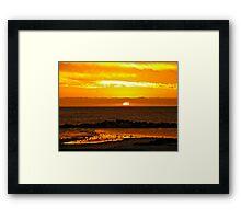 Sunset Bar view Framed Print