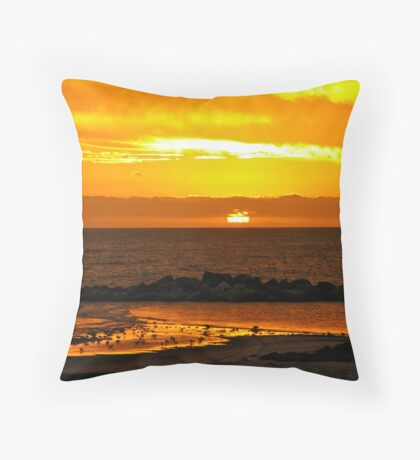 Sunset Bar view Throw Pillow