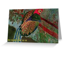 the great argus pheasant Greeting Card