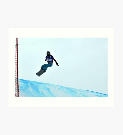 snowboard world cup Art Print