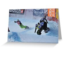 snowboard cross world cup Greeting Card