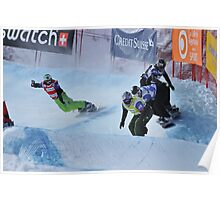 snowboard cross world cup Poster
