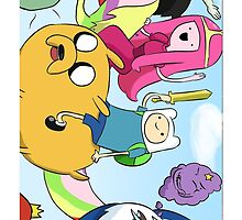 Finn And Jake Iphone Case by DharaaCase34