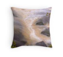 Dalry Waterfall, Ayrshire,Scotland Throw Pillow