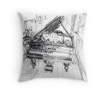 The Old Grand Piano Throw Pillow