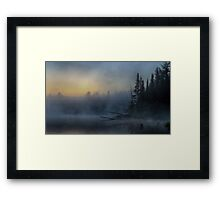 5am - Wilson Lake, Quebec Framed Print