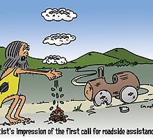 prehistoric roadside assistance by Tim Mellish