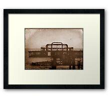 West Pier-UK ...Au revoir mémoire © Framed Print