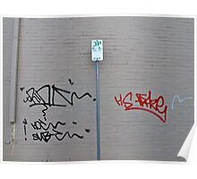 Left brain, right brain-Tags on grey wall Poster