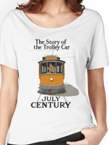 The Story Of The Trolley Car - Vintage Electric Streetcar Ad Women's Relaxed Fit T-Shirt