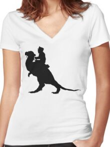 TaunTaun Rider Silhouette Women's Fitted V-Neck T-Shirt