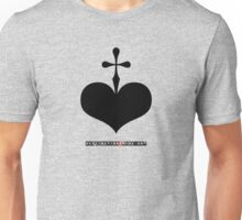 CrossHeart (black) Unisex T-Shirt