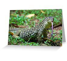 Yellow-Spotted Monitor Greeting Card