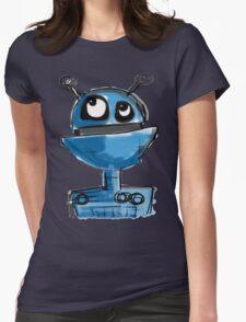 Blue Robot Womens Fitted T-Shirt
