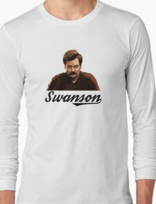 Ron Swanson Long Sleeve T-Shirt
