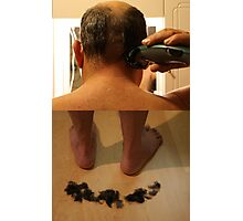 cutting hair Photographic Print