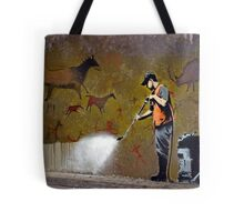 Council Worker by Banksy Tote Bag