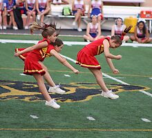 Cheer Leaders in Action by Laurie Puglia