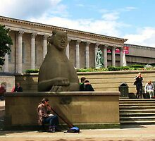 Birmingham ~ Victoria Square With Didgeridoo by artwhiz47