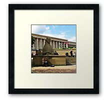 Birmingham ~ Victoria Square With Didgeridoo Framed Print