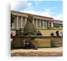 Birmingham ~ Victoria Square With Didgeridoo Canvas Print
