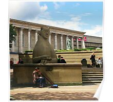 Birmingham ~ Victoria Square With Didgeridoo Poster