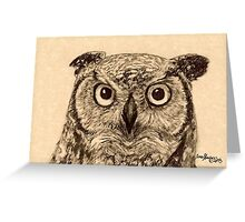 Whooo you looking at?? Greeting Card