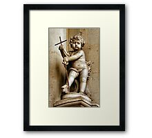 YOUNG JESUS STATUE Framed Print