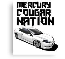 Mercury Cougar NATION (grey rims, black text)  Canvas Print