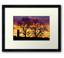 Country Cow Sunrise  Framed Print