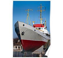 Ship with yellow masts Poster