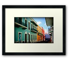 colorful streets Framed Print