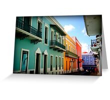colorful streets Greeting Card