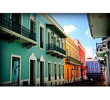 colorful streets Photographic Print