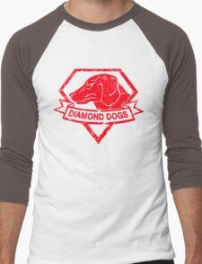 Diamond (Red) Men's Baseball ¾ T-Shirt