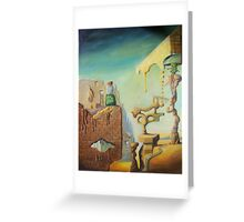 When walls start to melt.. Greeting Card