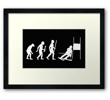 Funny Slalom Skiing Evolution Shirt Framed Print