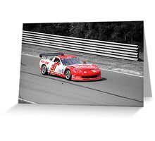 Red Corvette Greeting Card