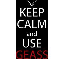 code geass keep calm and use geass anime manga shirt Photographic Print