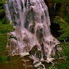 Bottom of Whitewater Falls, Cashers, North Carolina by Chelei