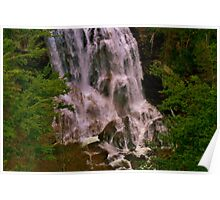Bottom of Whitewater Falls, Cashers, North Carolina Poster