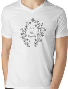 It's All Growth - Black Mens V-Neck T-Shirt