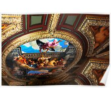 Michelangelo's masterpiece ceiling in the Vatican's Sistine Chapel Poster
