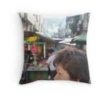 Klang market anuntie  Throw Pillow