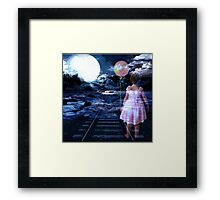 TRACKS TO A FUTURE WE ARE LEAVING OUR CHILDREN Framed Print